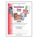 Beckenhorst Press Fall 2014 Pack
