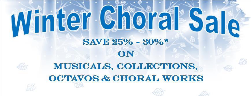 Winter Choral Sale